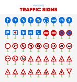 45 signalisations illustration stock