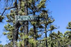 Signalisez à l'endroit Fuente Roques del Pino, La Palma de pique-nique Images libres de droits