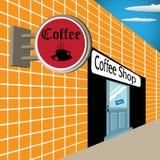 Café-restaurant illustration de vecteur