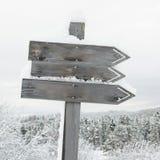 signalisez en bois Photographie stock