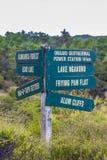 Signalisez en parc géothermique de Wai-O-Tapu, Rotorua, Nouvelle-Zélande Photo stock