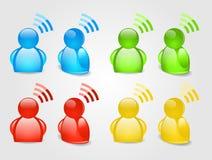 Signalisieren Sie RSS Ikone stock abbildung