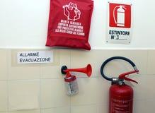 Signalisierengeräte für Katastrophenschutz Stockfotografie