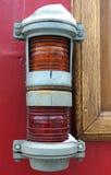 Signalling bicolour old lantern Royalty Free Stock Images