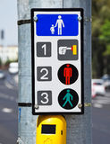 Signalling machinery at the pedestrian crossing Stock Image