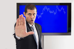 Signalling stop lost Stock Photos