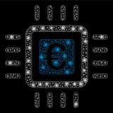 Signalljus Mesh Carcass Euro Processor med signalljusfläckar royaltyfri illustrationer