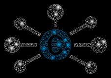 Signalljus Mesh Carcass Euro Relations med signalljusfläckar royaltyfri illustrationer
