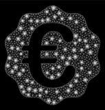 Signalljus Mesh Carcass Euro Reward Seal med signalljusfläckar stock illustrationer