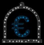Signalljus Mesh Carcass Euro Storage med signalljusfläckar royaltyfri illustrationer