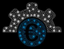 Signalljus Mesh Carcass Euro Technology med signalljusfläckar stock illustrationer