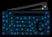 Signalljus Mesh Carcass Euro Tickets med signalljusfläckar royaltyfri illustrationer