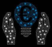 Signalljus Mesh Network Euro Patent Care med signalljusfläckar royaltyfri illustrationer
