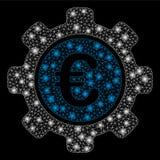 Signalljus Mesh Network Euro Settings med signalljusfläckar royaltyfri illustrationer