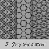 Signalmodell för tre grå färger Royaltyfria Bilder