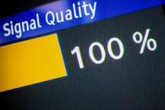 Signalqualität 100% Stockbild