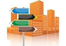 Signalroad urban Stock Image