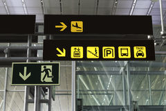 Signals at an airport Stock Photography