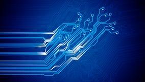 Signals of Circuit Board. Stock Photos