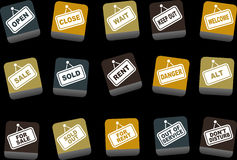 Signals Icon Set Royalty Free Stock Image