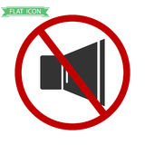 Signals is prohibited. Flat design, vector illustration, vector Royalty Free Stock Images