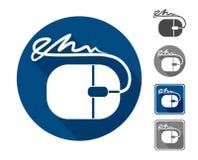 Signature électronique, icône Photos stock