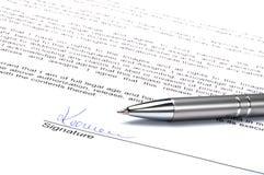 Signature Image stock