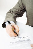 Signature. The signature of business contract Royalty Free Stock Photos