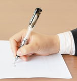 Signature. In office, staff member signature Royalty Free Stock Images