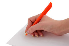 Signature. And Close-up of a fountain pen Royalty Free Stock Image