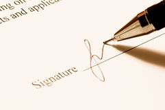 Signature. Stock Image