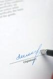 Signature images stock