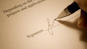 Signature. Royalty Free Stock Photos