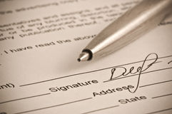 Signature. Stock Image
