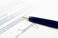 Signature Stock Photo