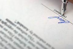 Signature photographie stock