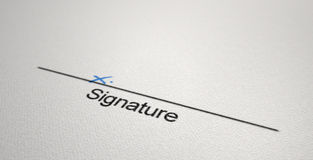 Signature Area X Royalty Free Stock Image