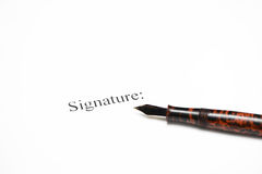 Signature Royalty Free Stock Image