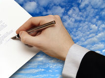 Signature of Business Contract Stock Photo