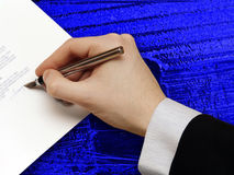 Signature of Business Contract Royalty Free Stock Image