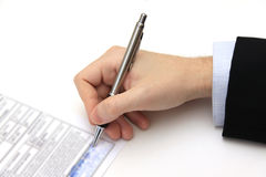 The Signature of Business Contract Stock Image