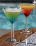 Signature cocktails served Poolside Stock Image