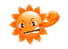 Sun logo  on a white background Stock Photo
