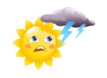 Sun logo  on a white background Stock Photo