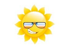 Sun logo  on a white background Royalty Free Stock Photos