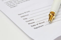 Signature contract Stock Photo
