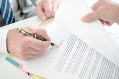 Signature of a contract Stock Photography