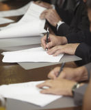 Signature contract signing business office Stock Photos