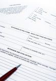 signature de contrat photos libres de droits