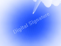 Signature digitale Photo libre de droits